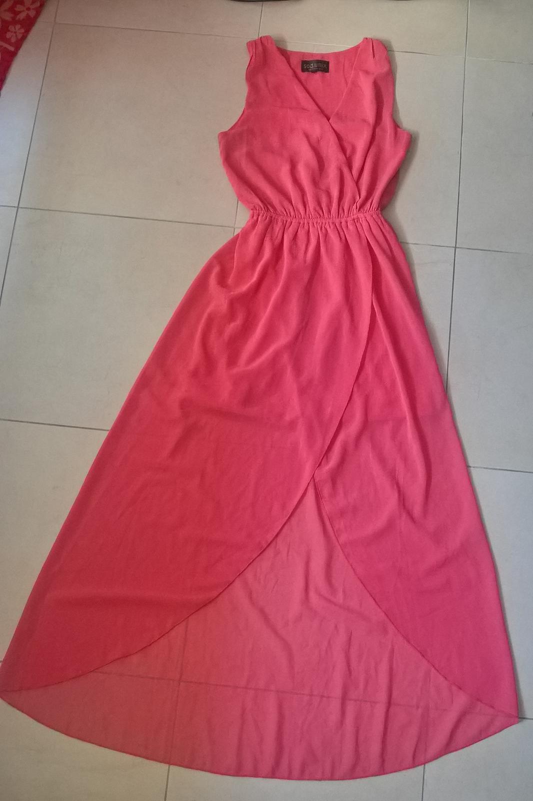 Marhuľkové spoločenské šaty č.36 - 38 - Obrázok č. 1