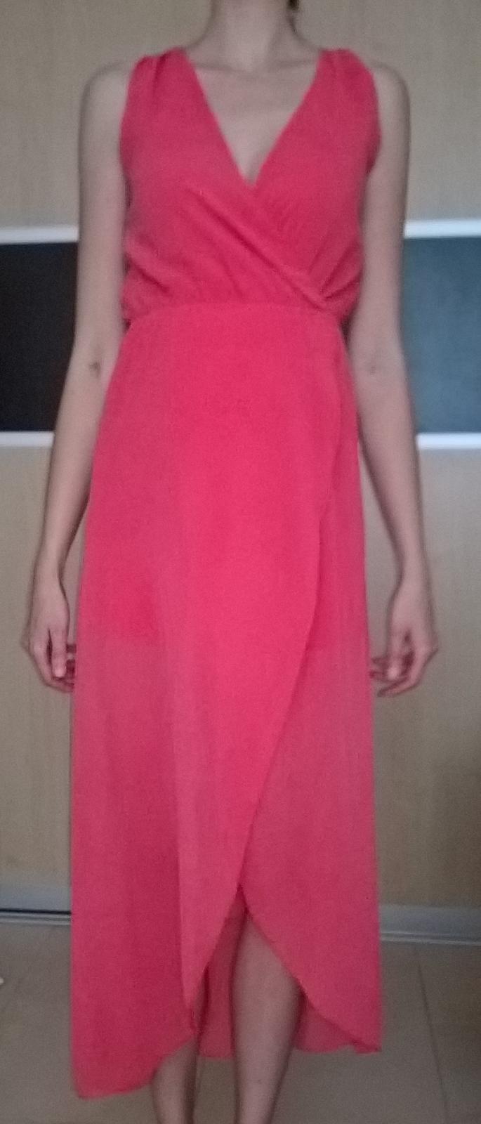 Marhuľkové spoločenské šaty č.36 - 38 - Obrázok č. 2