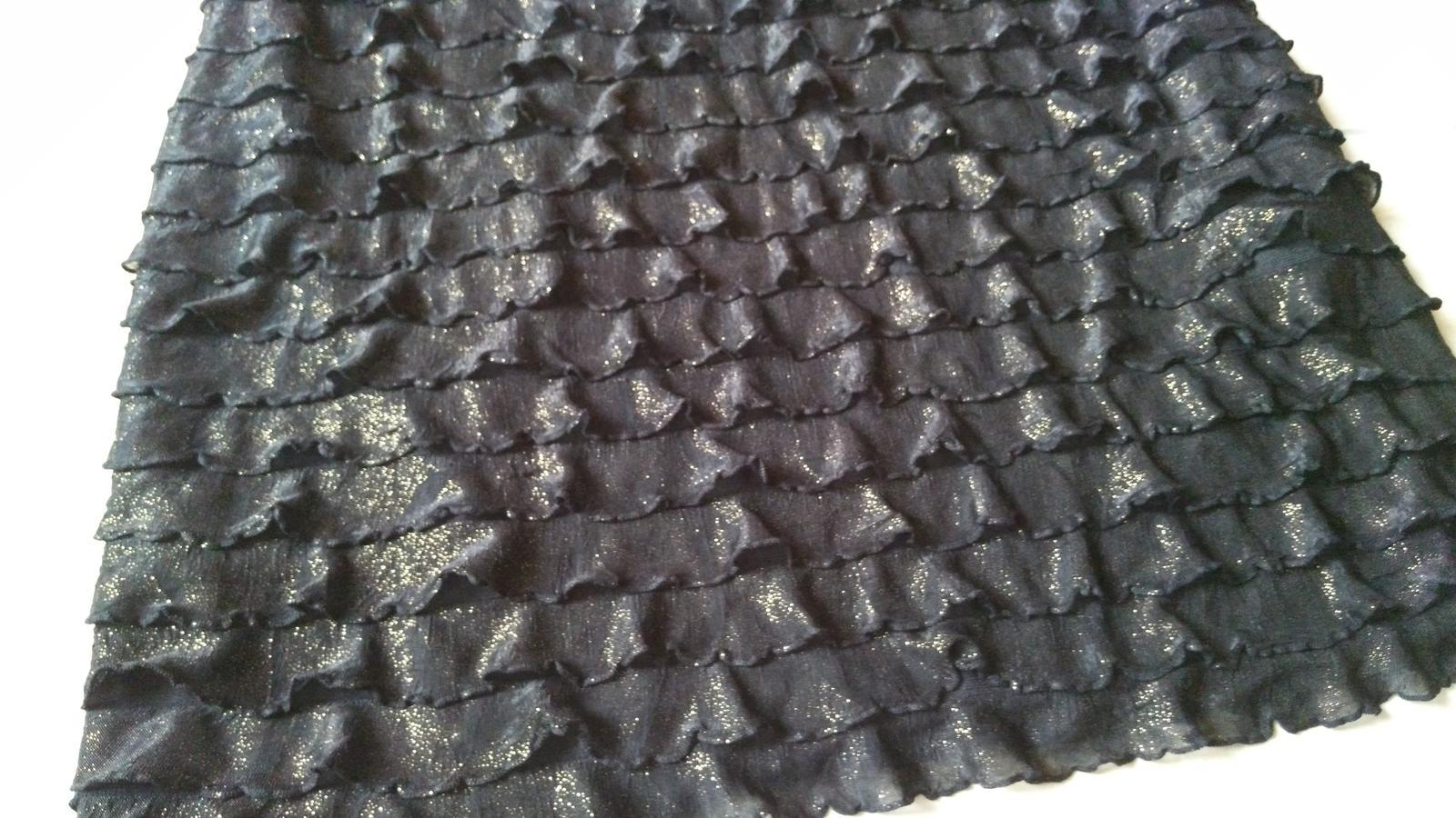 Čierno-zlatá sukňa s volánikmi 38/M - Obrázok č. 2