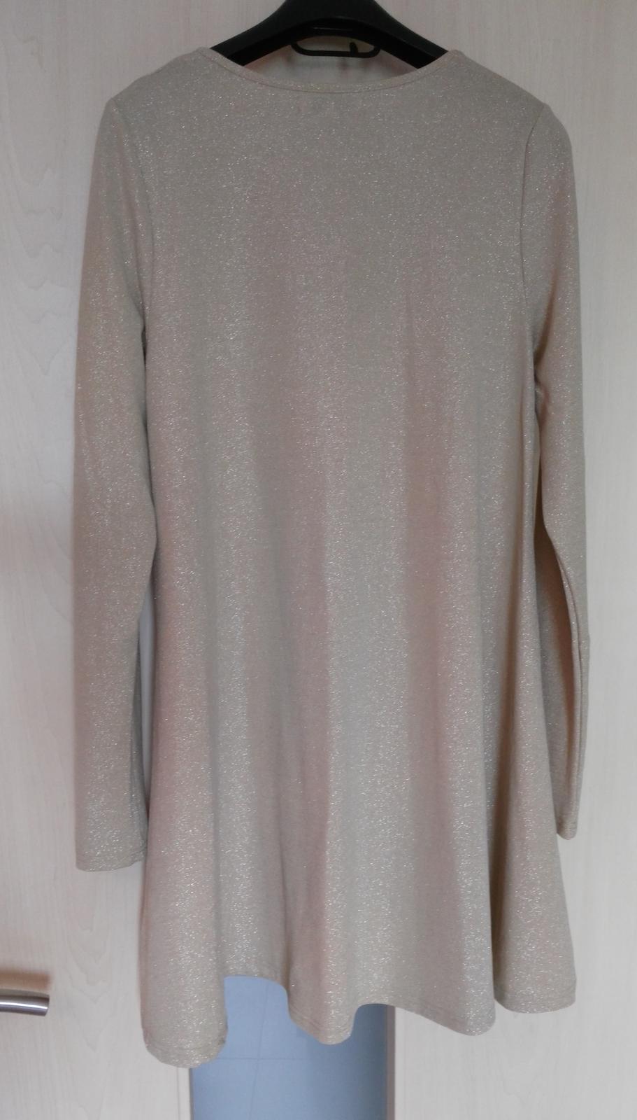 Béžovo-strieborné šaty 36/S - Obrázok č. 4