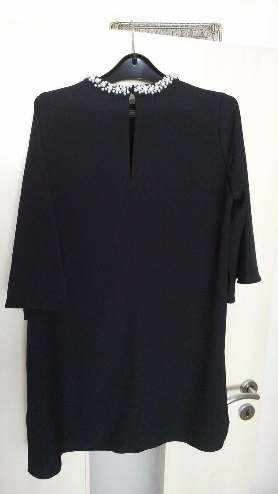 Čierne elegantné oversize saty 36/S - Obrázok č. 2