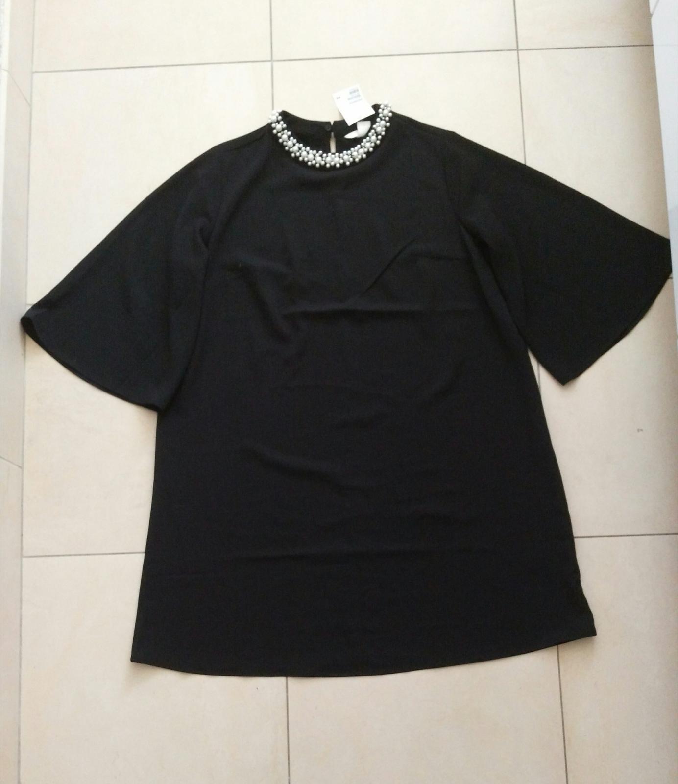 Čierne elegantné oversize saty 36/S - Obrázok č. 1