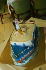 na takejto lodi sme sa zoznamili,takze sme si dali upiect aj taku torticku,ako spomienku :-)