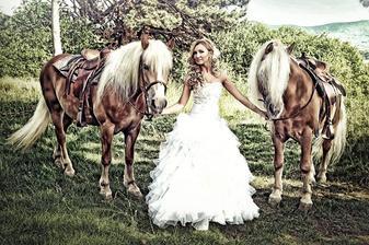Svadobné foto s konmi...krása...