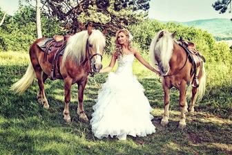 svadobné fotenie s koňmi...