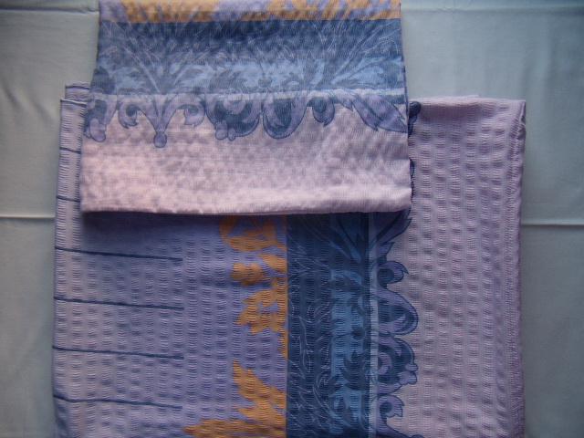 Fialové krepové obliečky na dve postele  - Obrázok č. 1