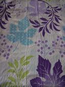 Prehoz na posteľ - bielo-fialovo-tyrkysovo-zelený,