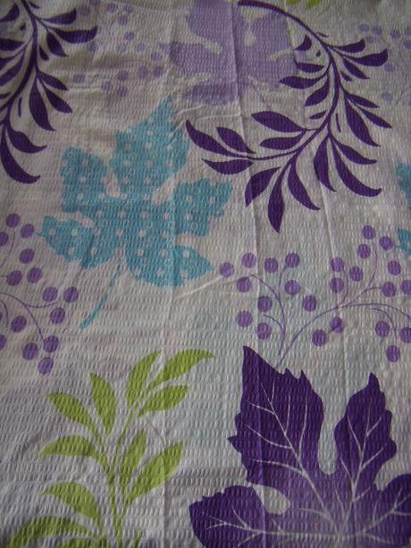 Prehoz na posteľ - bielo-fialovo-tyrkysovo-zelený - Obrázok č. 1