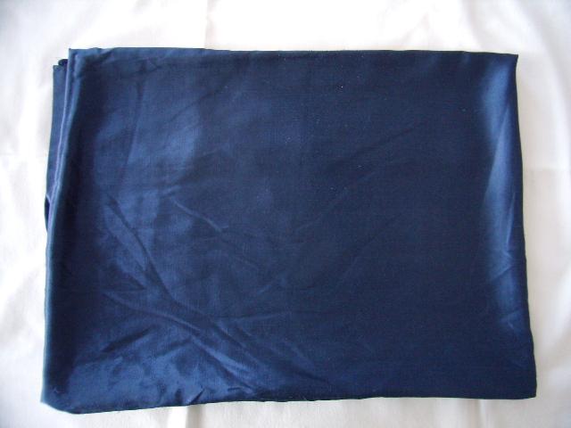 Tmavo-modré obliečky na 2postele - bavlnený satén - Obrázok č. 1