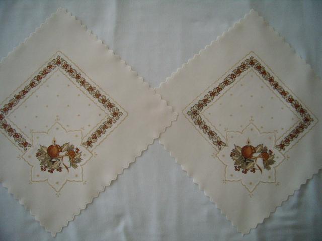 2x vianočný obrúsok - hnedý vzor - Obrázok č. 1