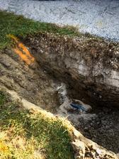 vodovodné potrubie sme našli na 1 šupu