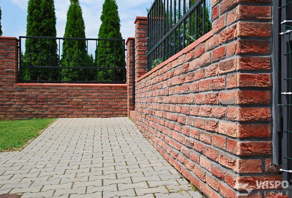tehlové a  kamenné obklady  - REALIZACIE - Tehlovka klasik terakota