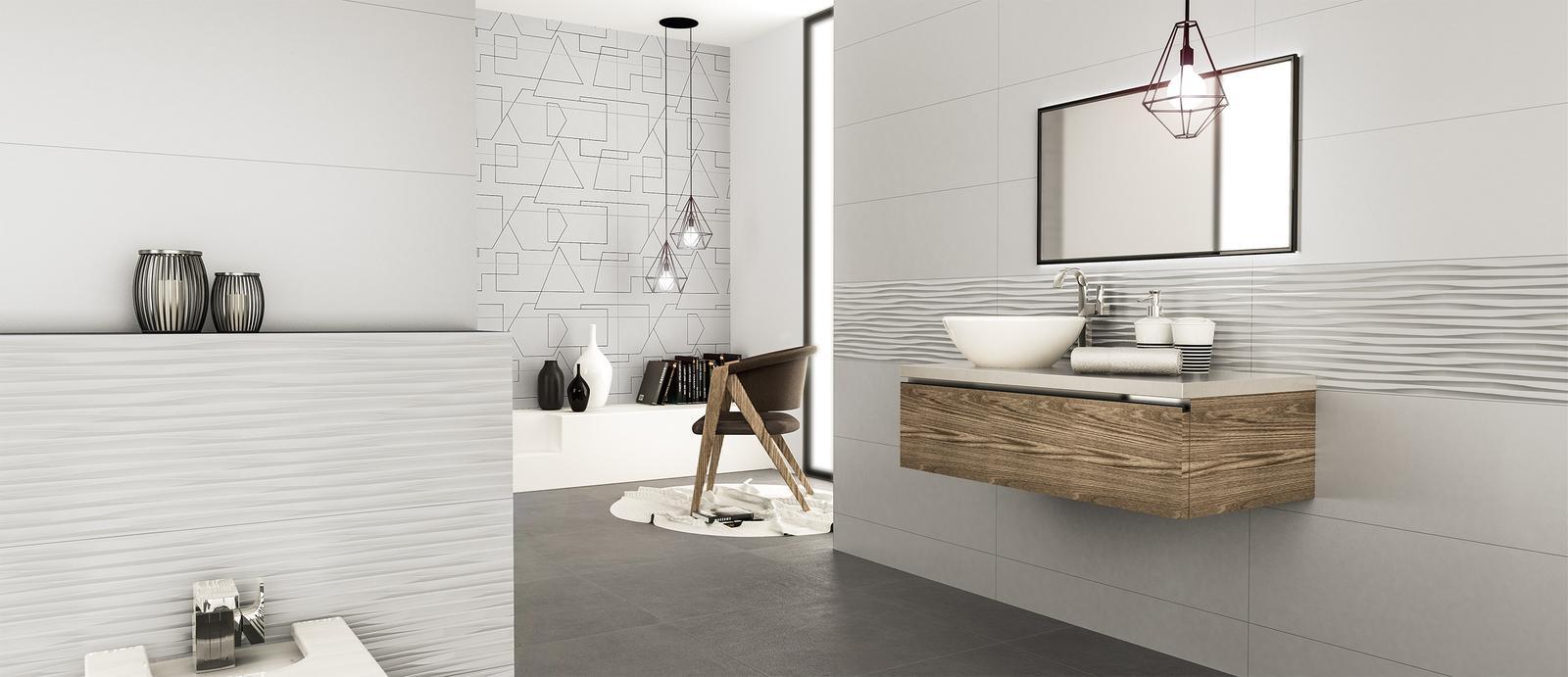 Moderné kúpeľne - štýlová kúpeľňa Luminor Perla 29x89