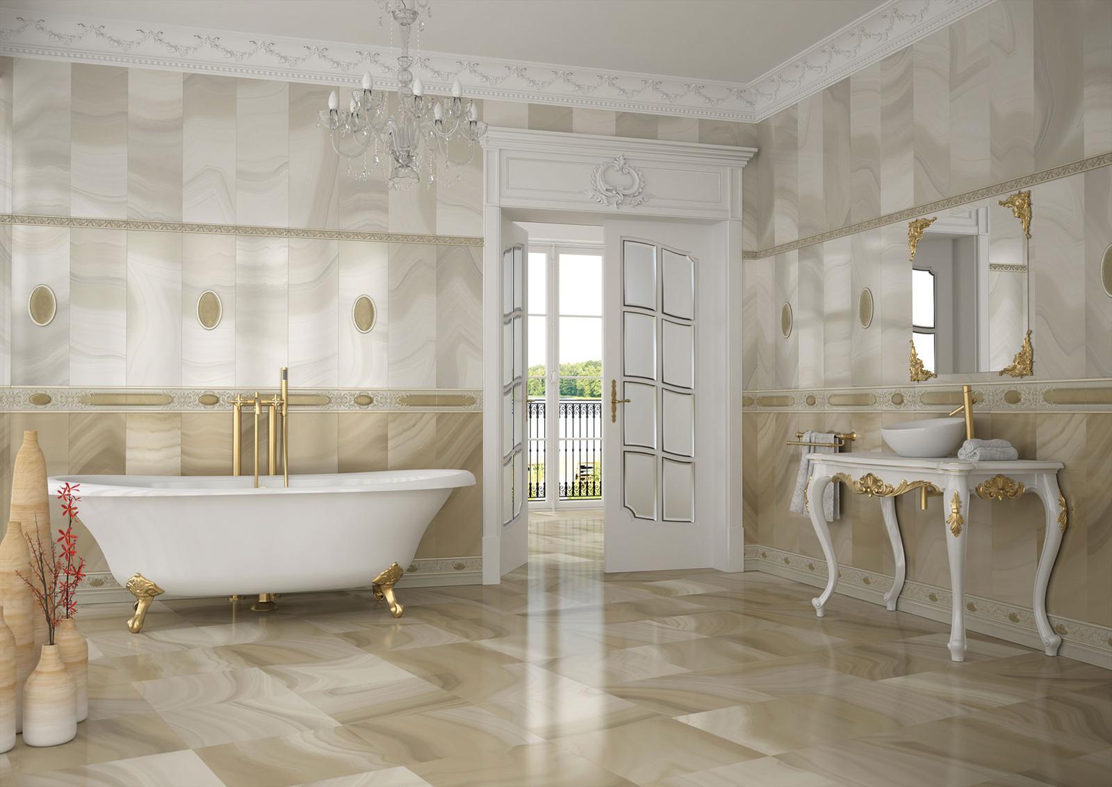Luxusné kúpelne zo Španielska - luxusná lesklá kúpeľňa Absolute Vison 25x73