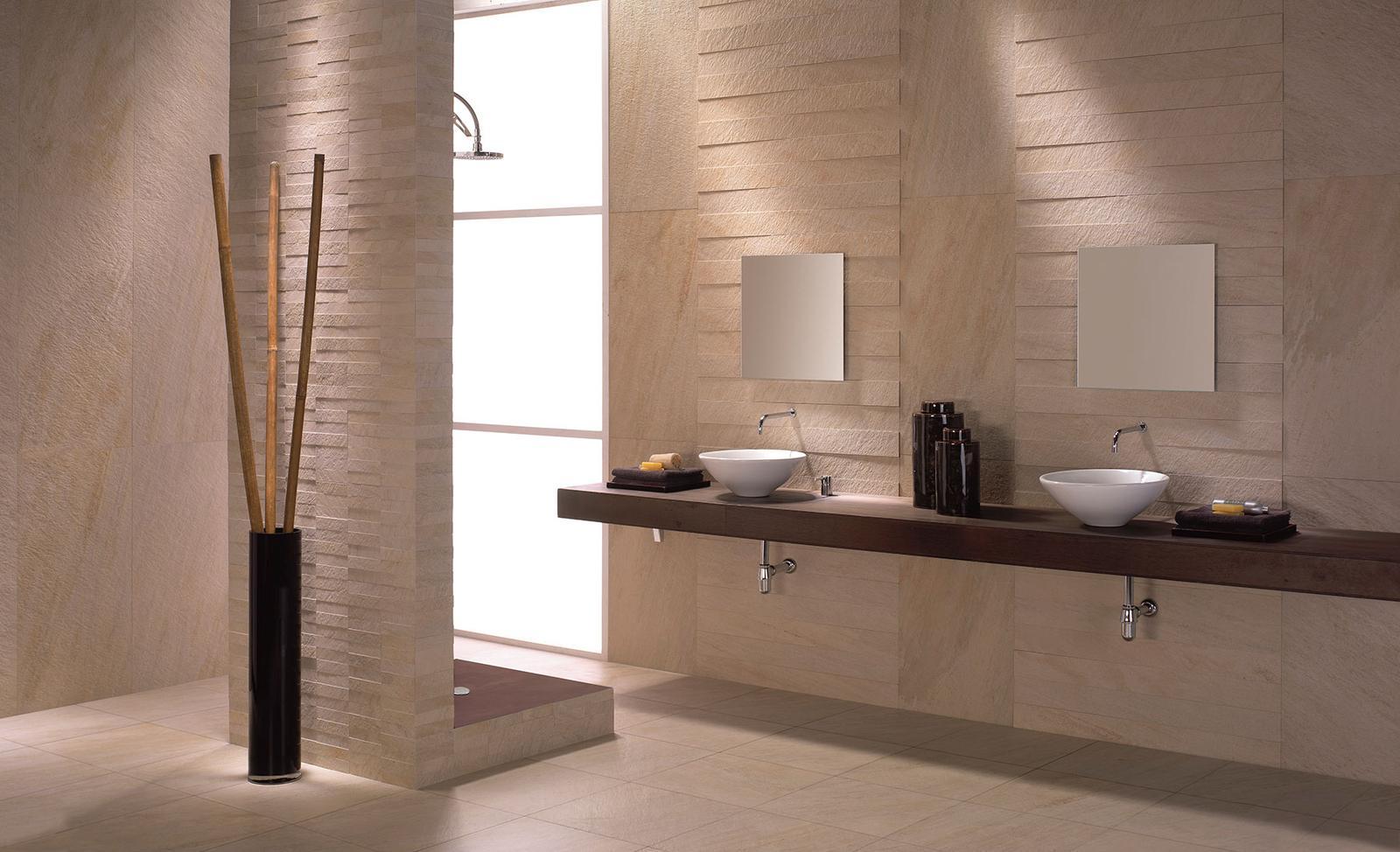 Luxusné kúpelne zo Španielska - moderná matná kúpeľna Cuarcita Mix 31,6x63,7