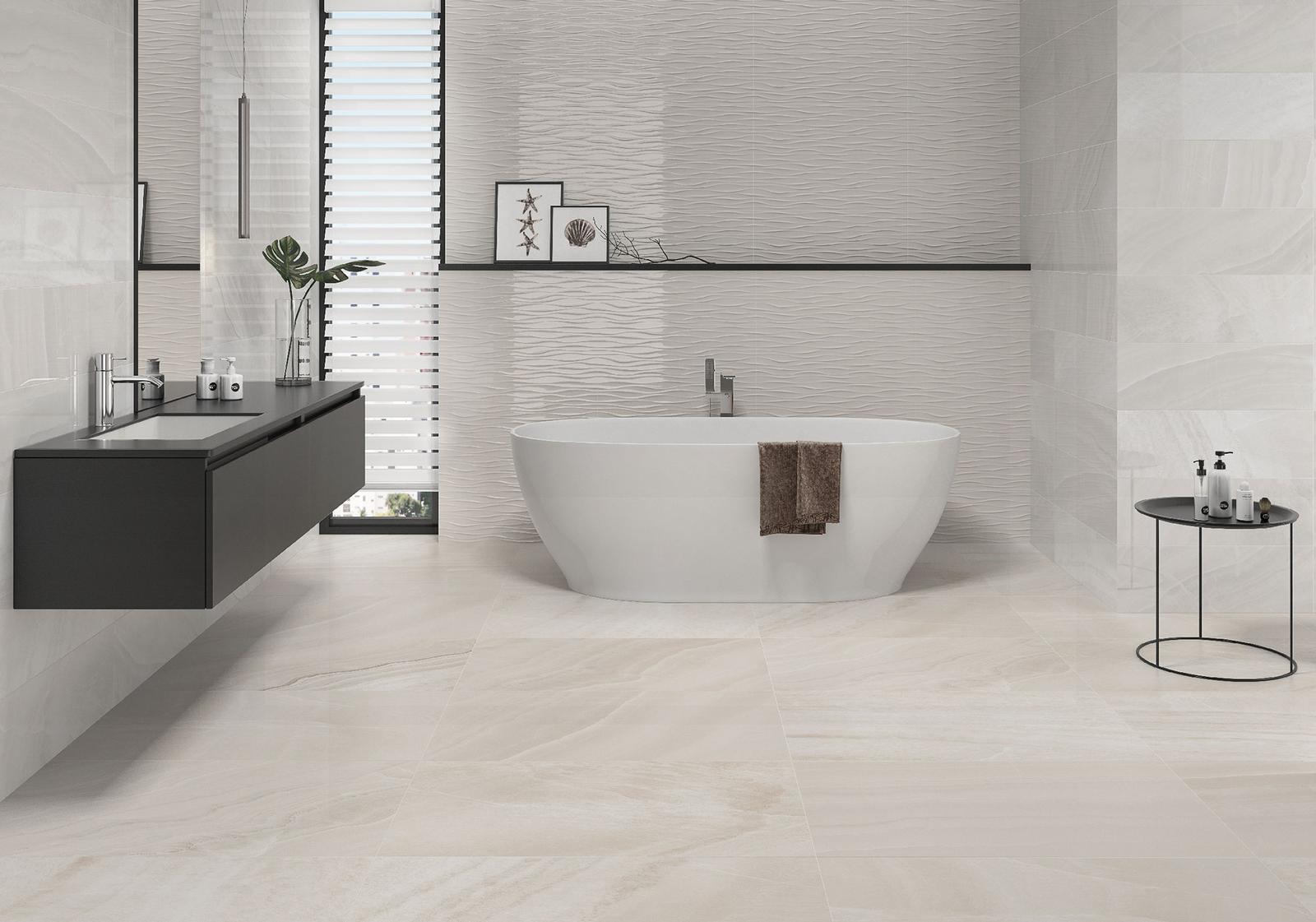 Luxusné kúpelne zo Španielska - dizajnová kúpeľňa Davos Blanco 25x73