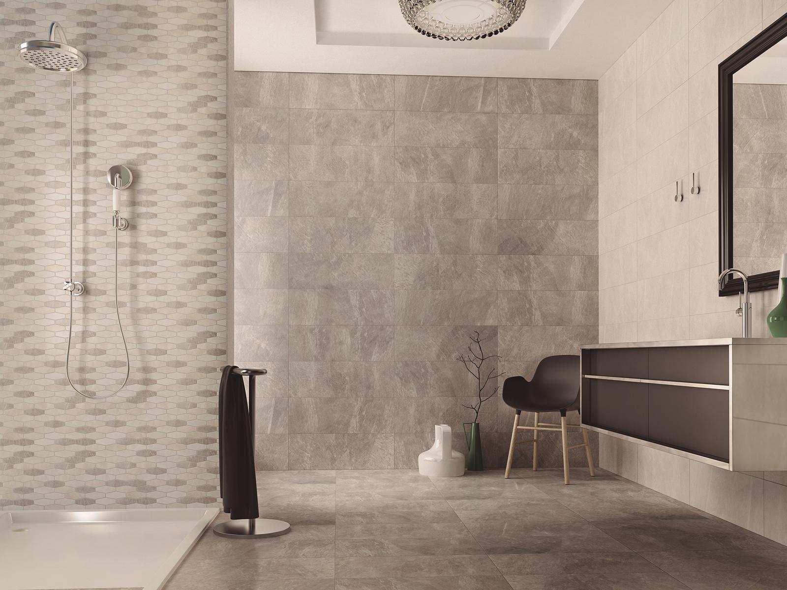 Luxusné kúpelne zo Španielska - moderná kúpeľňa Filita Neutral 25x73