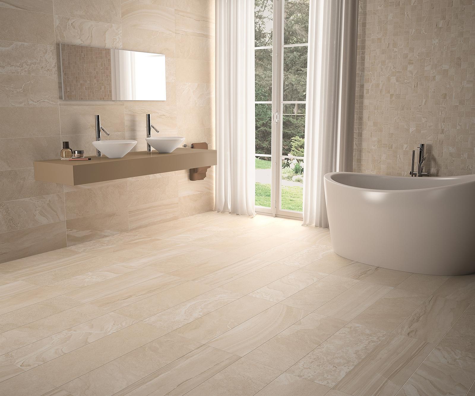 Luxusné kúpelne zo Španielska - moderná matná kúpeľňa Multigraf Bone 23,3x68,1