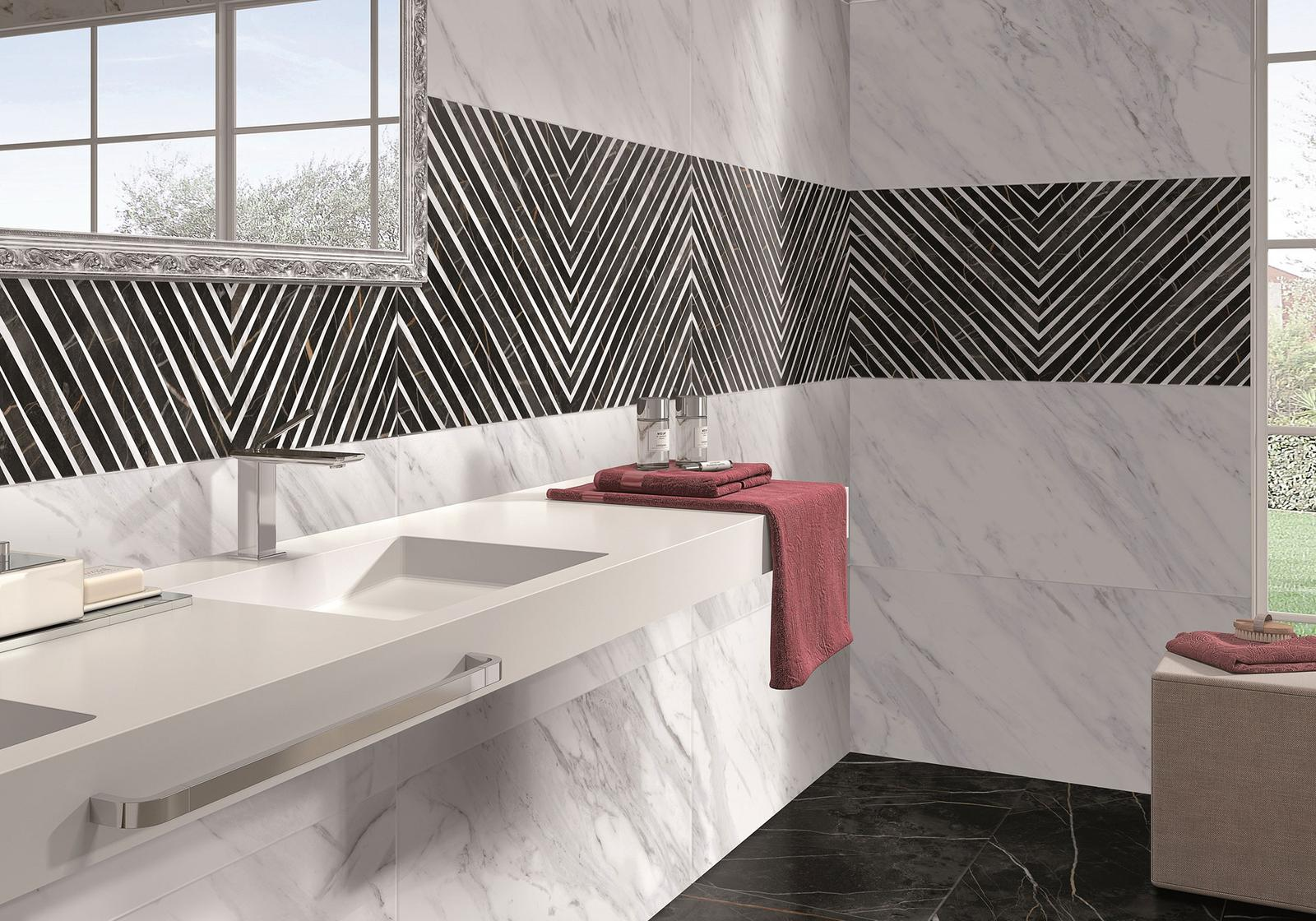 Luxusné kúpelne zo Španielska - dizajnová kúpeľňa North Gloss 49,1x98,2