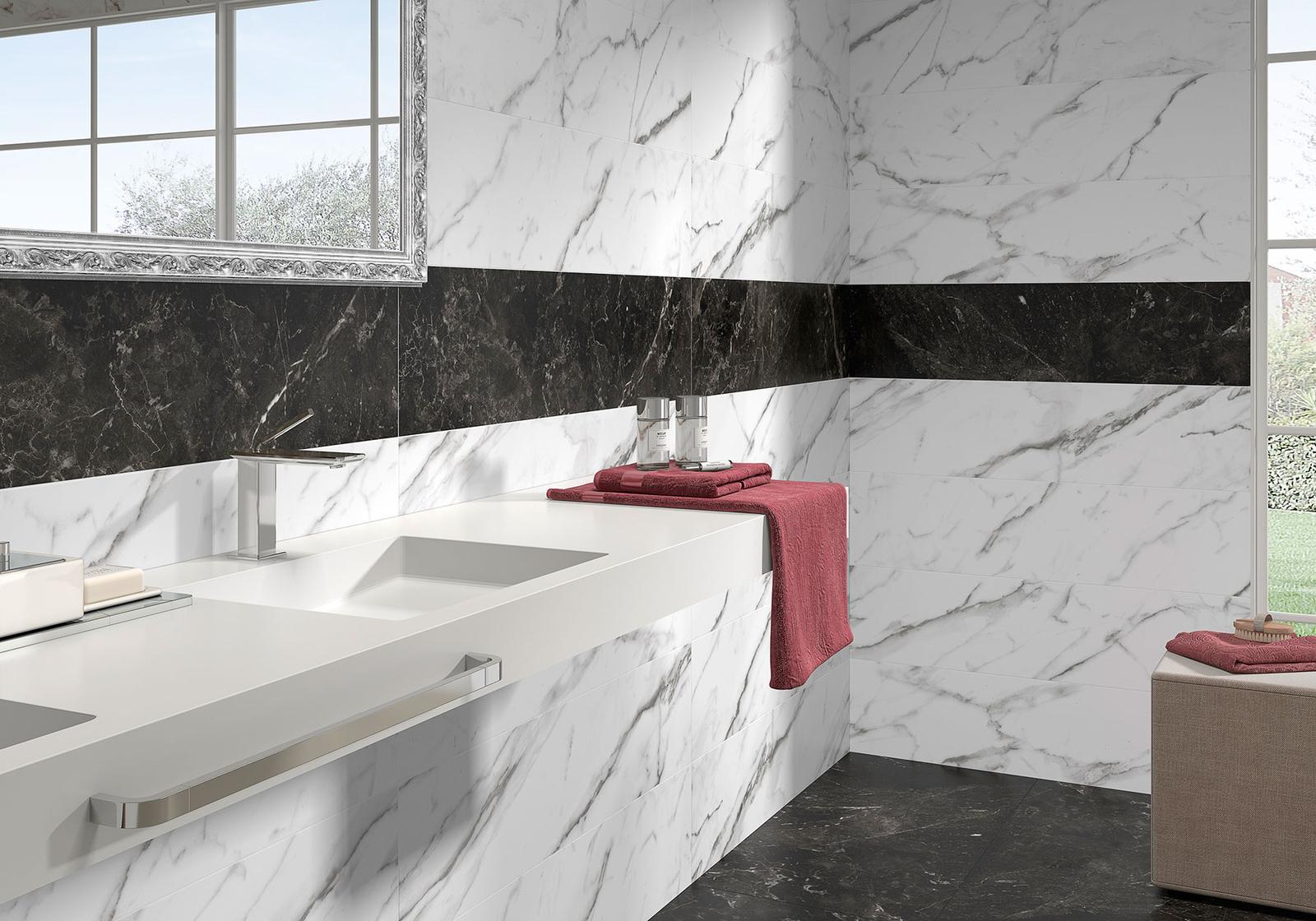 Luxusné kúpelne zo Španielska - dizajnová kúpeľňa Venezia Bianco 49,1x98,2