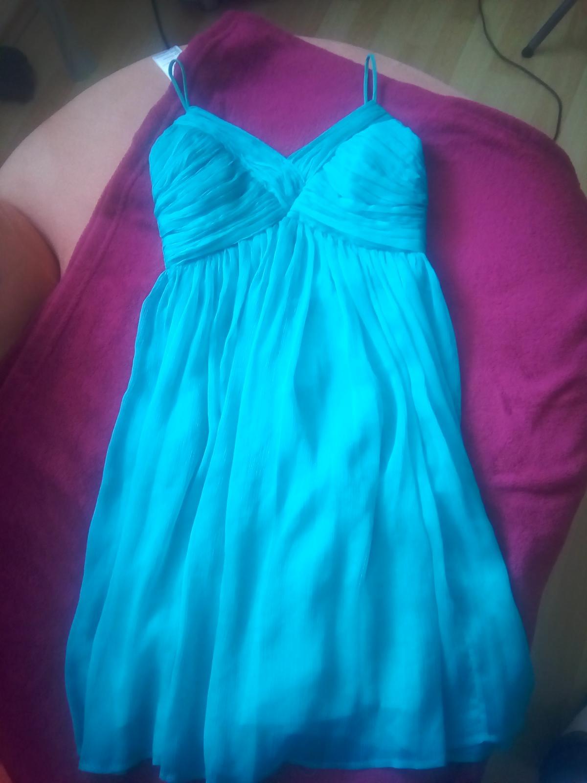 Krátke zelené šaty S /36 - Obrázok č. 1
