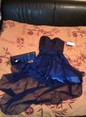 Modré šaty 34 (S) - 34, 34