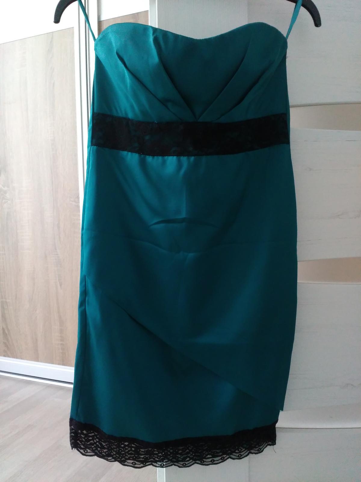 Tmavozelene šaty 34 - Obrázok č. 1