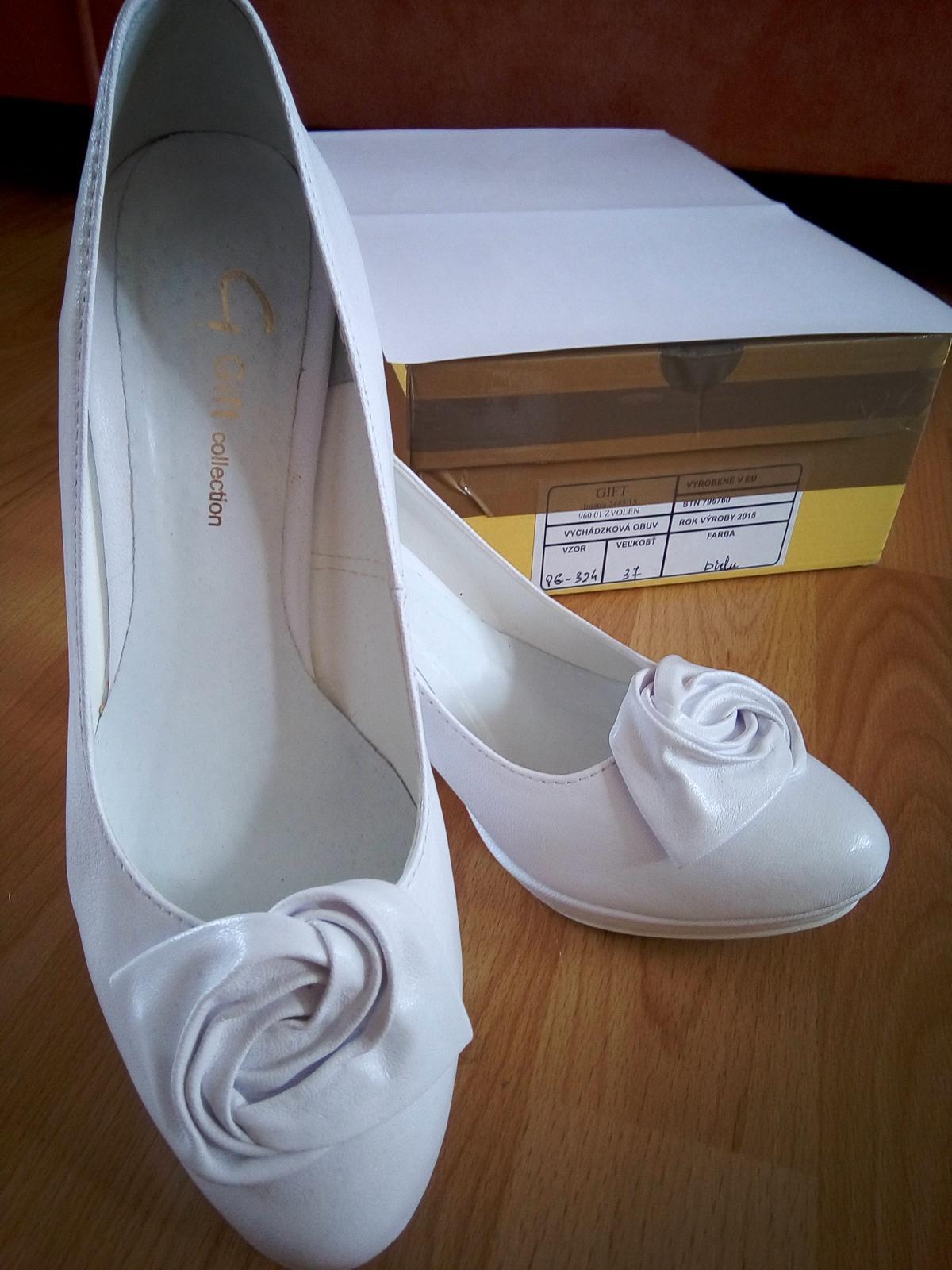Biele svadobné lodičky - 37 - Obrázok č. 4