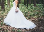 Sexy svatební bílé šaty a dovoz zdarma, 39