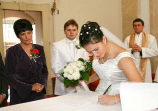 Podpísanie manželskej zmluvy