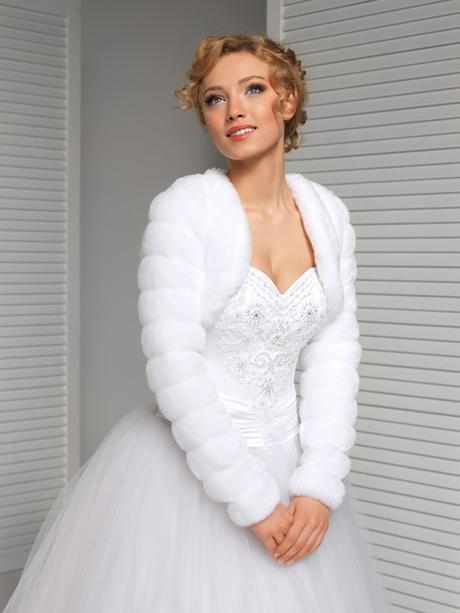 svadobné bolerko, svadobný kožúšok, kabátik - Obrázok č. 1
