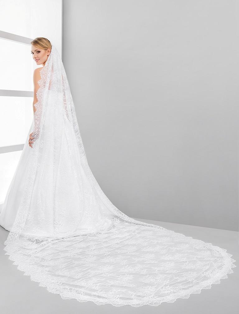 čipkovaný svadobný závoj - Obrázok č. 1