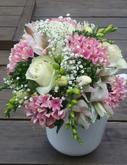 Bowardie, eustoma, růžičky, nevěstin závoj