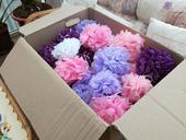 Fialové a růžové pompony,