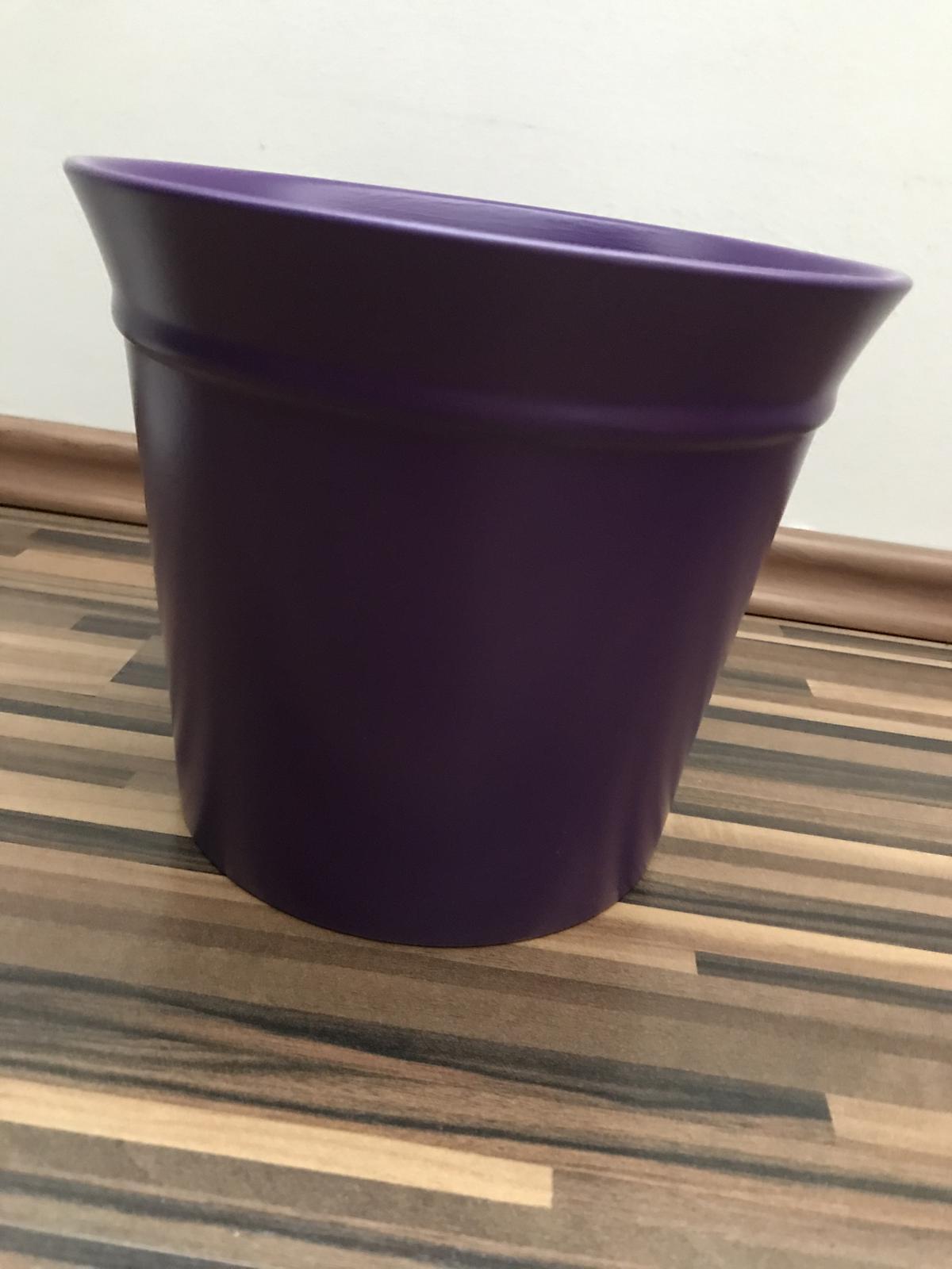 Keramické kvetináče - fialové - 15 ks - Obrázok č. 4