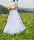 Krajkové svatební šaty vel.44-48, 46