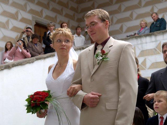 Milena{{_AND_}}Tomáš Tyralovi - při obřadu - řekne ano?? (pohled nevěsty)