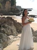 Biele spoločenské šaty - jednoduché svadobné šaty, 36