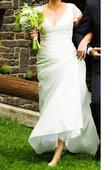 vintage svatební šaty - jednoduchý styl, 42