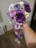 Svatební kytice + doplňky ,