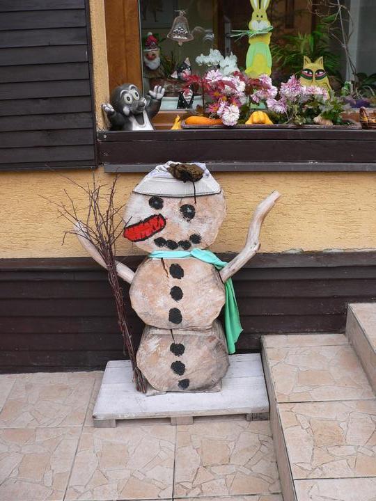S Adélkou vytváříme - i když sních není my máme svého sněhuláka