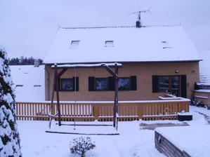 Zasněžená terasa