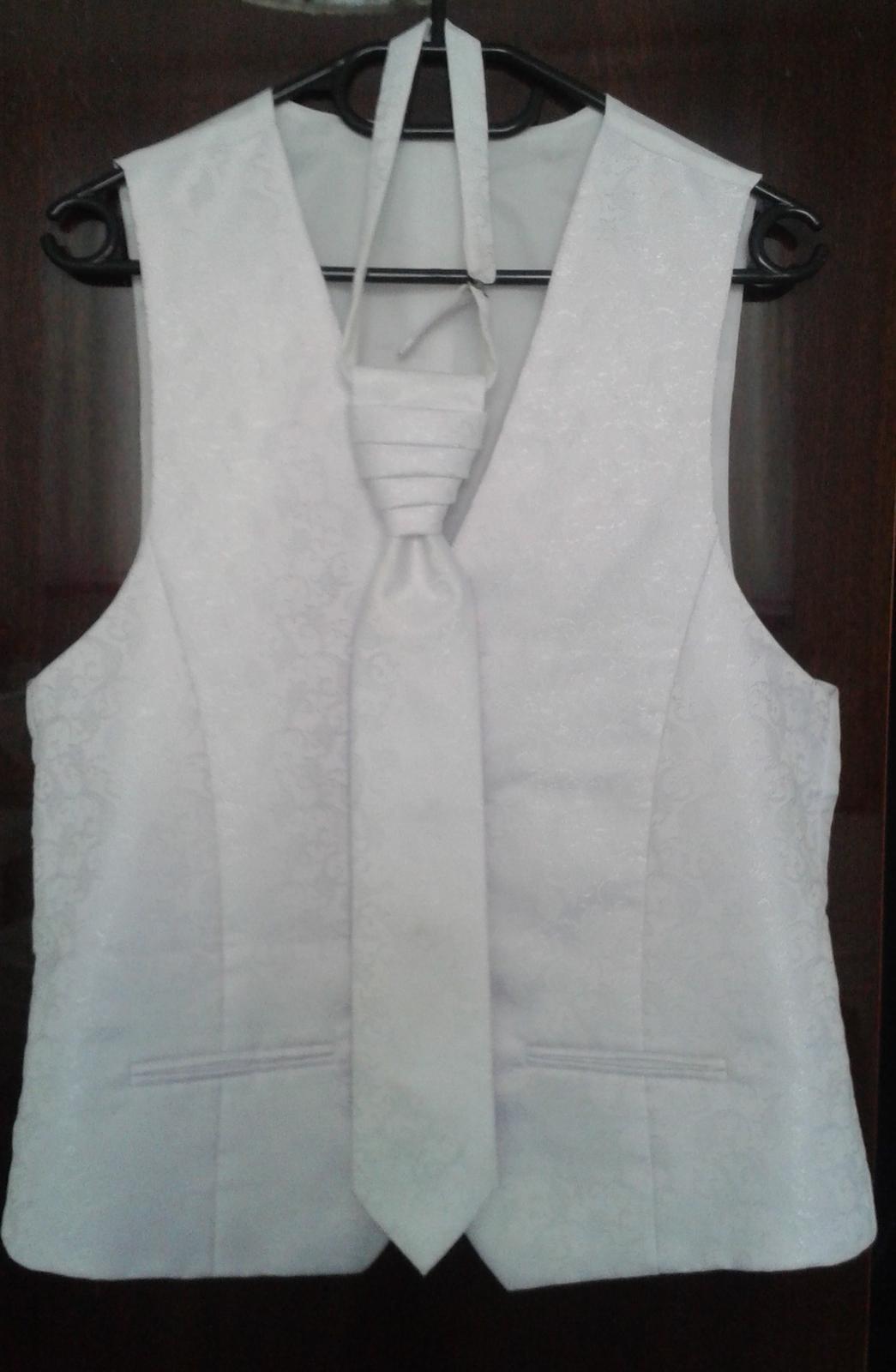 Svadobná vesta+kravata+vreckovka - Obrázok č. 1