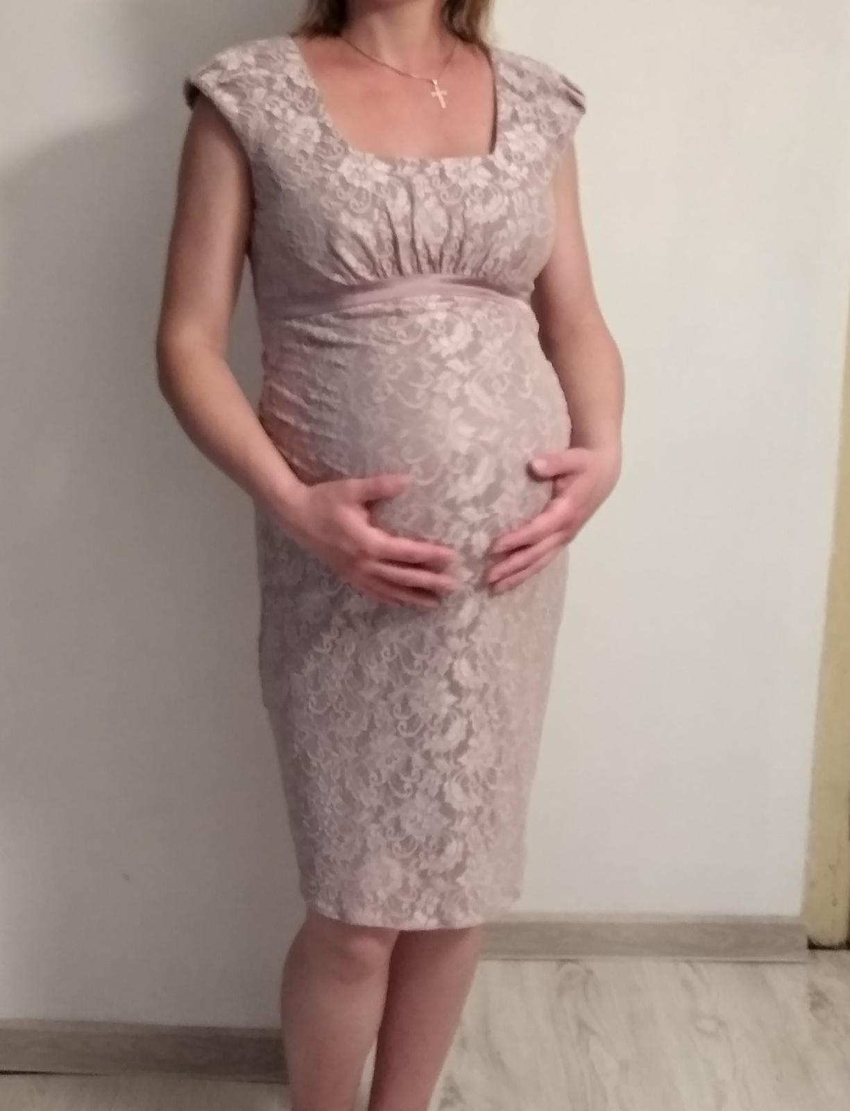 Spoločenské šaty pre tehotné - Obrázok č. 1