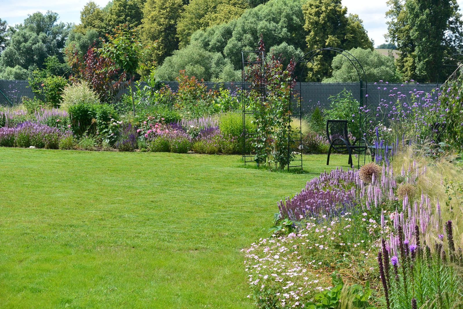 Motýlí zahrada 2019-2020 - I tráva konečně začíná být k světu.