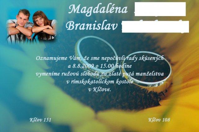 Deň D 8.8.09 - Naše oznámenie.