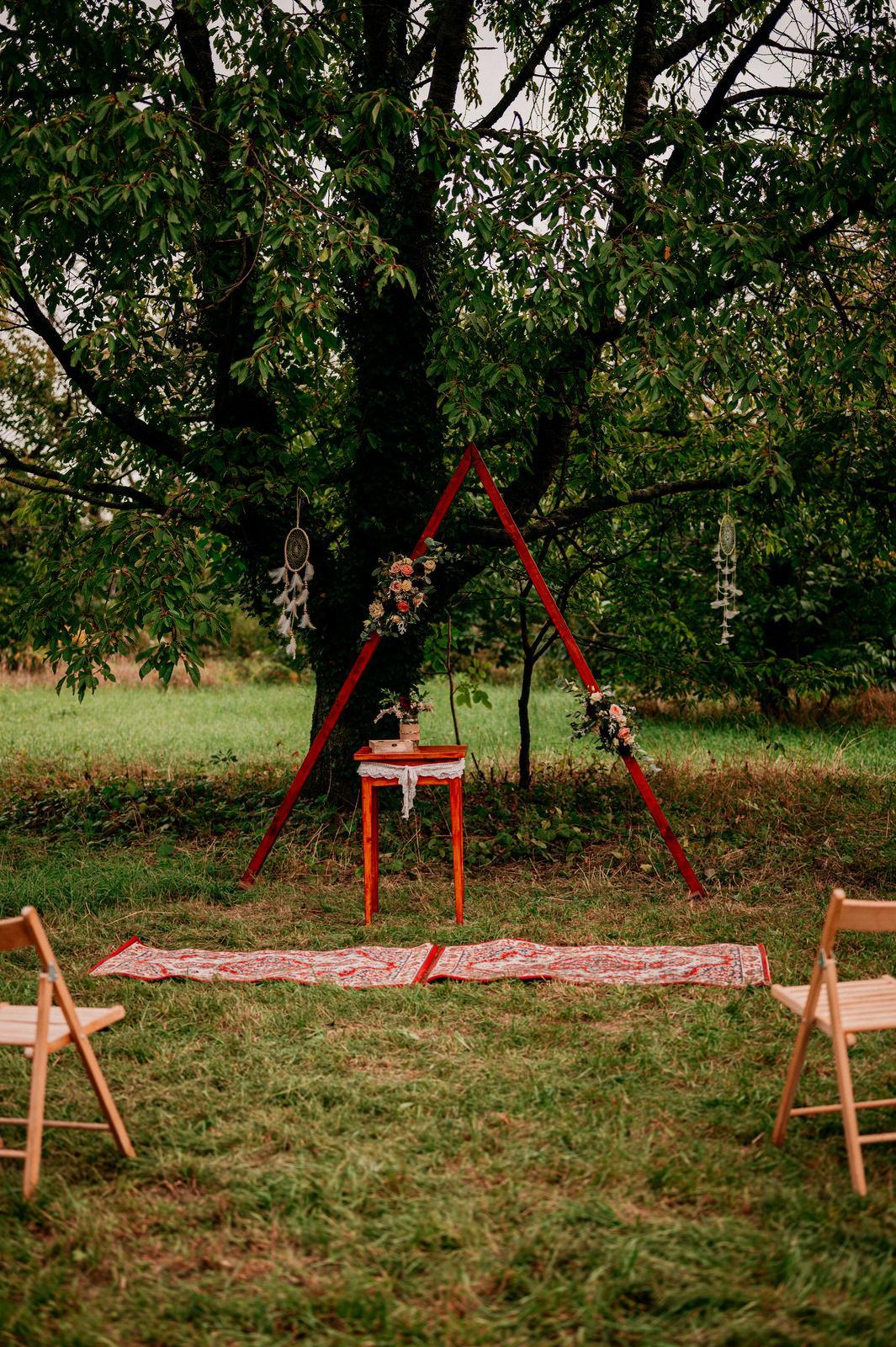 Dřevěná slavobrána, triangl - Obrázek č. 2