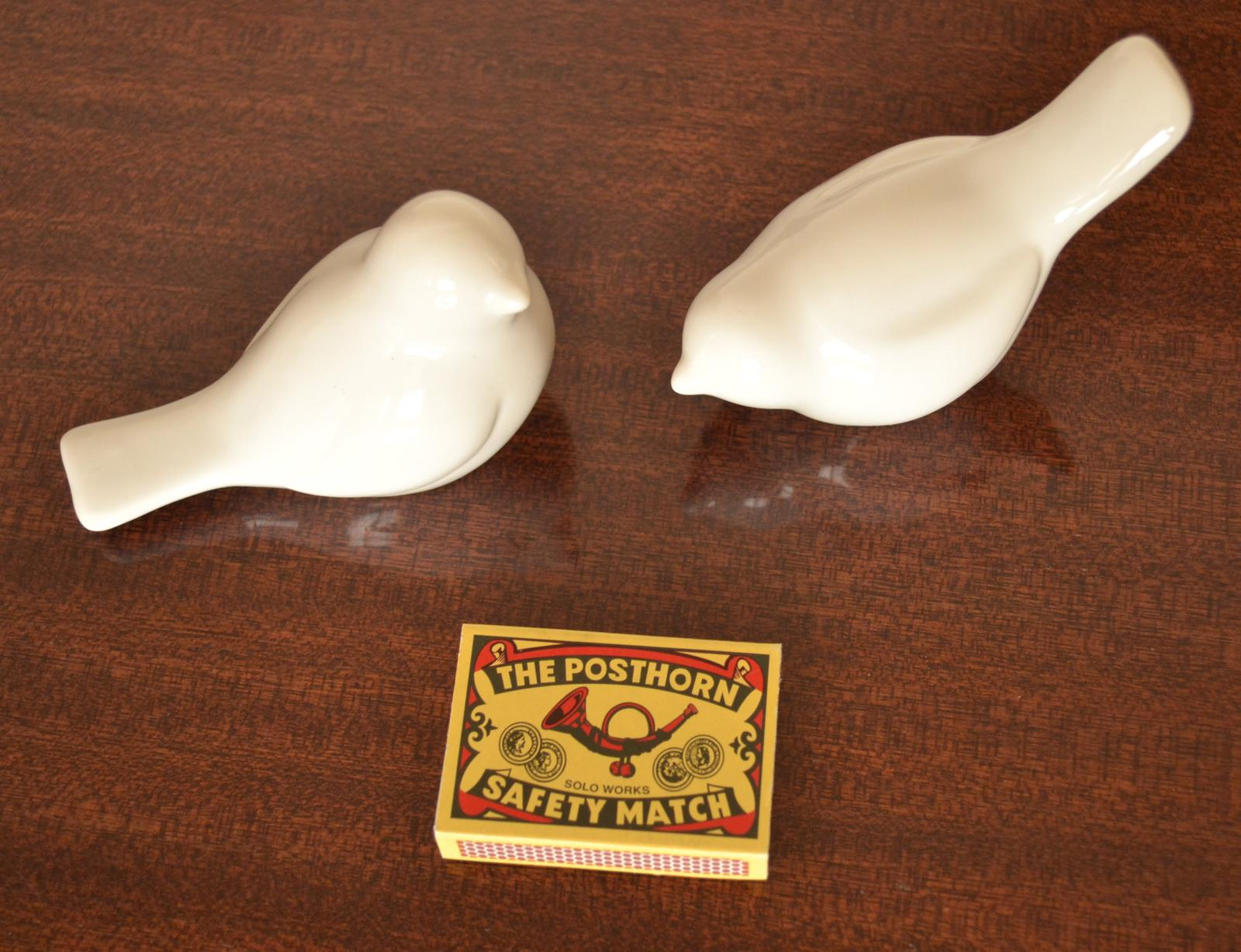 Bílí ptáčci z keramiky - Obrázek č. 1
