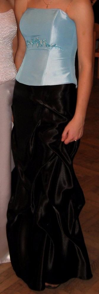 dlouhá černá společenská sukně s řasením - Obrázek č. 1