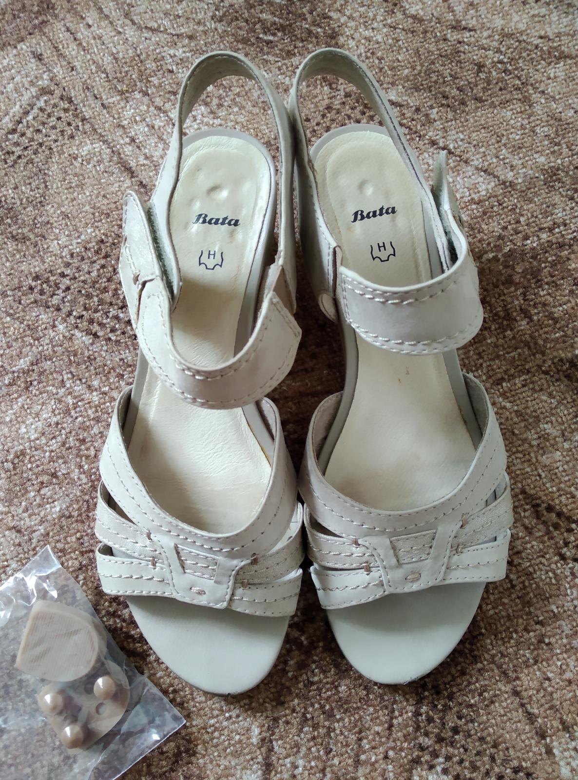 béžové sandálky na podpatku - Obrázek č. 1